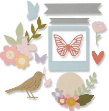 Sizzix Floral Banner Thinlits Die Set 662679