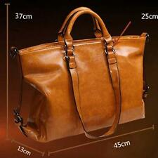 New Oiled Leather ladies fashion handbags shoulder Messenger Bag Light Brown GA
