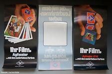 2 x Plakate + 1 x Schaufenster Aufkleber AGFA vermutlich um 1972 !?