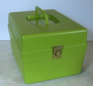 Wil Hold Vintage Sewing Pattern Box With Patterns Green