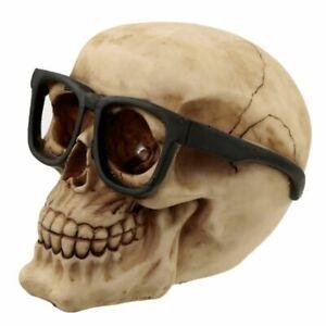 Gothic Fantasy Skull wearing Glasses Ornament