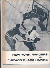 1/23/1963 Chicago Black Hawks New York Rangers Program + Tickets Hull Mikita MOR