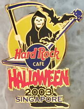 Hard Rock Cafe SINGAPORE 2003 HALLOWEEN PIN Grim Reaper w/Sickle & Guitar #21975