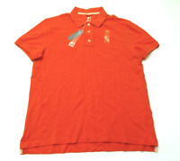 JCPenney Mens Size Medium Orange Colored Mesh Polo Shirt New