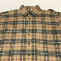 Orvis Plaid Flannel Long Sleeve Button Down Mens XL Shirt