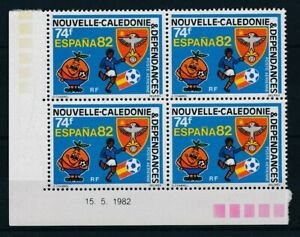 [22094] New Caledonia 1982 football good airmail block of 4 stamps VF MNH