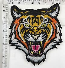 #998 BENGAL TIGER iron-on PATCH embroidered ROARING WILD ANIMAL SOUVE