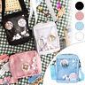 Anime Japanese Lolita Girl Cute Canvas Itabag Transparent Messenger Shoulder Bag