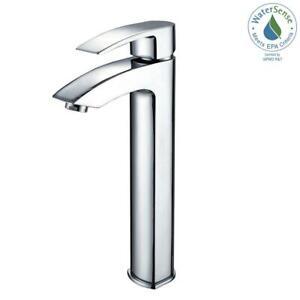 Visio Single Hole Single-Handle Vessel Bathroom Vessel Faucet in Chrome - NEW