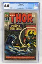 Marvel Comics Thor #134 CGC 6.0 1st App High Evolutionary Man-Beast Fafnir 1966