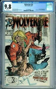WOLVERINE 10 CGC 9.8 WP 1st SABRETOOTH BATTLE COVER New CGC Case MARVEL 1989