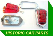 2 x Stop/Tail Lights for Wolseley 4/50 Four Fifty 1950-54 - replace Lucas L471