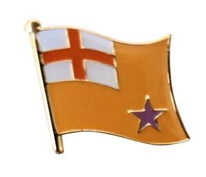 Orange Standard Flag Unionist Loyalist Metal Enamel Pin Badge 25mm X 20mm