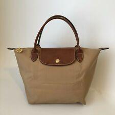 Longchamp Le Pliage Top Handle Small Beige L1621089841 Handbag Tote Lightweight