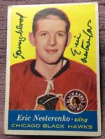 "ERIC NESTERENKO 1957-58 TOPPS #24 SIGNED AUTOGRAPHED CARD INSCRIBED ""YOUNGBLOOD"""