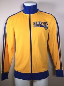 RARE Golden State Warriors adidas Originals Track Jacket Gold   FALL 2014 SMALL