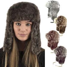 UNISEX MENS LADIES LUXURY FAUX FUR WINTER WARM RUSSIAN COSSACK SKI TRAPPER HAT