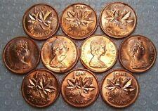 CANADA 1 Cents 1968 Uncirculated (MS-62-63) ***10 PCS LOT***