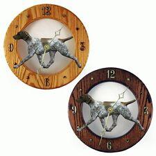 German Shorthair Pointer Wood Wall Clock Plaque