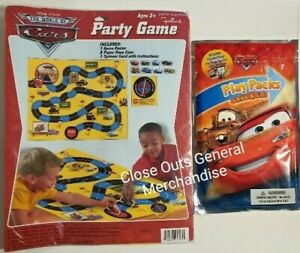 Disney Cars Party Game-Poster, Spinner, Race cars + WINNER PRIZE
