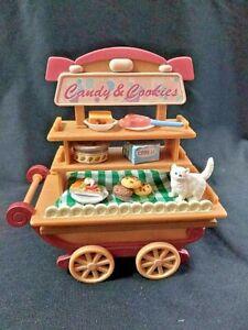 HANDMADE, Dollhouse, Collectible,  Dessert Cart, Cat, kitty, kitten