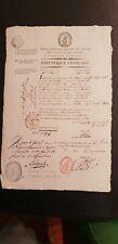 LAISSEZ PASSER DU GENERAL LIEGARD MARSEILLE EN ETAT DE SIEGE 1796