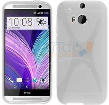 FUNDA de GEL TPU TRANSPARENTE para HTC ONE 2 M8 en ESPAÑA CARCASA