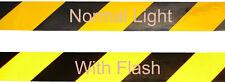 REFLECTIVE YELLOW & BLACK ADHESIVE HAZARD WARNING TAPE