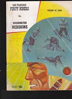 Washington Redskins v San Francisco 49ers NFL Program August 16 1959 YA Tittle