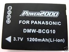 Battery for Panasonic DMW-BCG10 DMW-BCG10PP DMWBCG10E