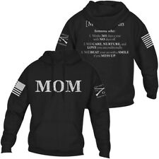 Тяжелую стиль мама определенные пуловер толстовка с капюшоном-черный