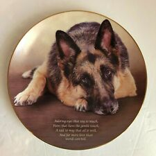 "Cherished German Shepherds ""Adoring Eyes"" Collector Plate by Danbury Mint"