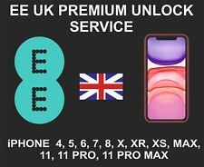 EE UK Premium Unlock Service, iPhone 4, 5, 6 7, 8, X, XR XS, MAX, 11, Pro, Max