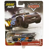 Disney Pixar Diecast CARS XRS Drag Racing Moving Pistons Jackson Storm GFV36