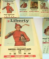 1939 -1942 REPRODUCTION 4 Calendars WWII Art LIBERTY USN Pin Up Girls Soldiers