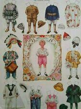 1918 Betty Bonnets Valentine Boy Vintage Uncut Paper Doll
