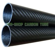 1pcs 3k Carbon Fiber Tube OD 38mm x ID 35mm x Length 500mm (Roll Wrapped) 38*35