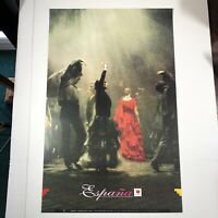 """SPAIN ESPANA POSTER VTG 1980s Tour Espana Ballet Nacional de Espana 38.5""""x 24.5"""""""