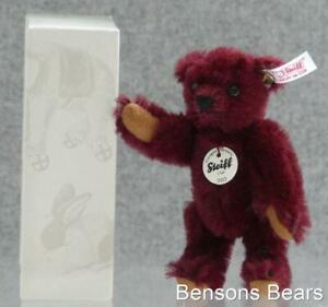 Steiff 2012 Annual Club Renewal Gift Miniature Replica Bear Burgundy Ean 421228