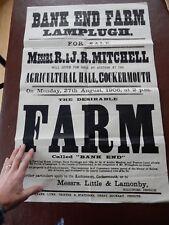 Bankend Lamplugh Historic Poster rare survivor poor condition Cockermouth
