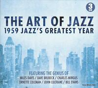 THE ART OF JAZZ - 1959 JAZZ'S GREATEST YEAR - VARIOUS ARTISTS (NEW SEALED 3CD)