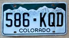 American number plate licence plate license Colorado vintage man cave USA old