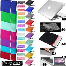 Paquete 6 IN 1 Apple Macbook Brillo Claro Carcasa Neopreno Funda Teclado Ru