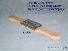 Buffing wheel cleaner-Rake Aluminum Stainless Brass