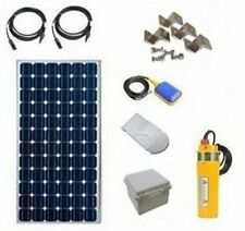"Solar Well Pump Kit  - Deep Well Solar System - 3.75"" Dia Pump for SCH40 4"" Well"