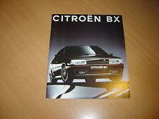 CATALOGUE Citroën BX de 1992