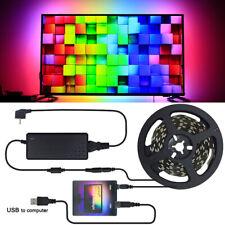 5V WS2812B USB LED Streifen licht 5050 RGB Traum Farbe Ambilight Kit für HDTV PC