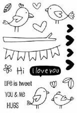 "#77033 Srm Clear Stamp 4""x6"": Love Birds Banner Hugs Tweet"