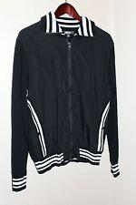Mens HERITAGE 1981 Forever 21Men Full Zip Jacket Sweater Size Large Black White