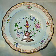 Meissen Teller alt Indische Malerei Suppenteller tiefer Teller Porzellan 1.Wahl